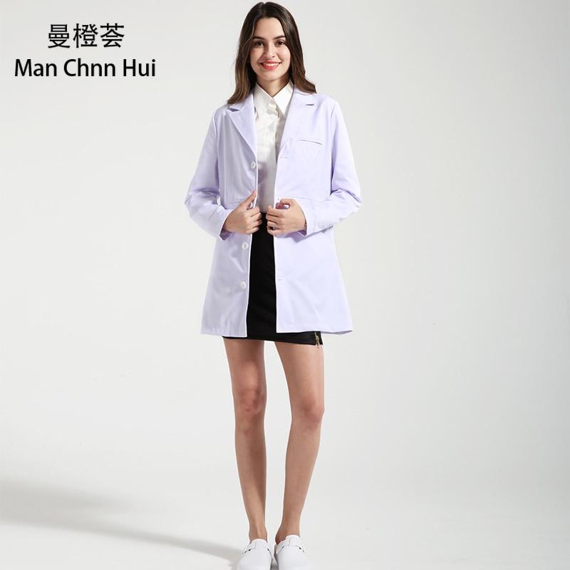 Medical Robe Clinical Experiment Women Medical Uniforms Pharmacy Hospital Doctor Coat White Coats