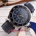 43 мм черный циферблат с датой для мужчин s часы известного люксового бренда простой автоматический самоветер move Мужские t наручные часы
