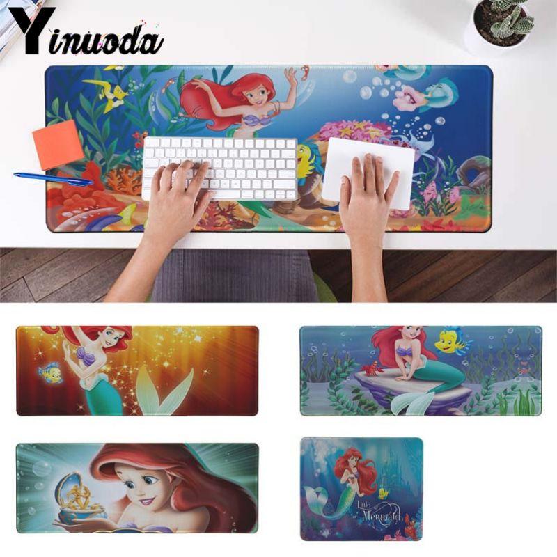 Yinuoda Русалочка офисных мышей геймер мягкие Мышь Pad Размеры для 30x90 см и 40x90 см игровой Мышь колодки