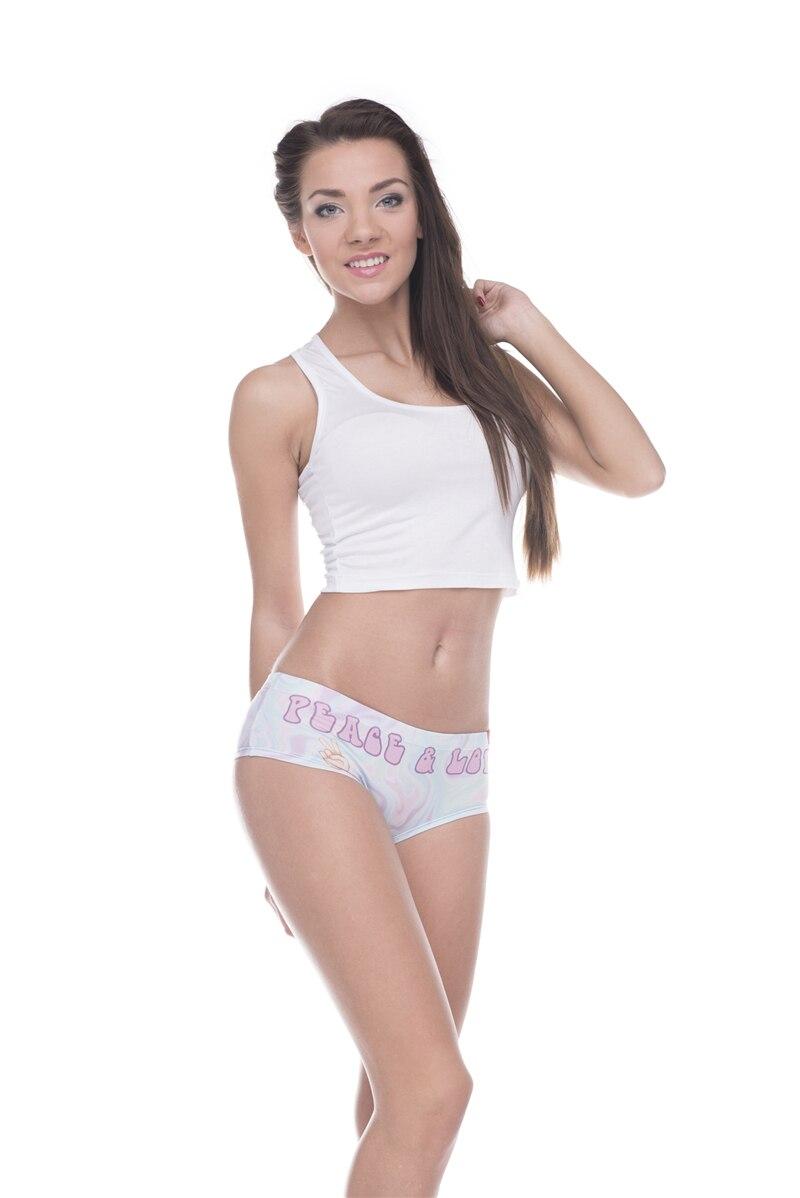 sexy panites New 3D Print emoji peace women Underwear femme sexy briefs panty lingerie
