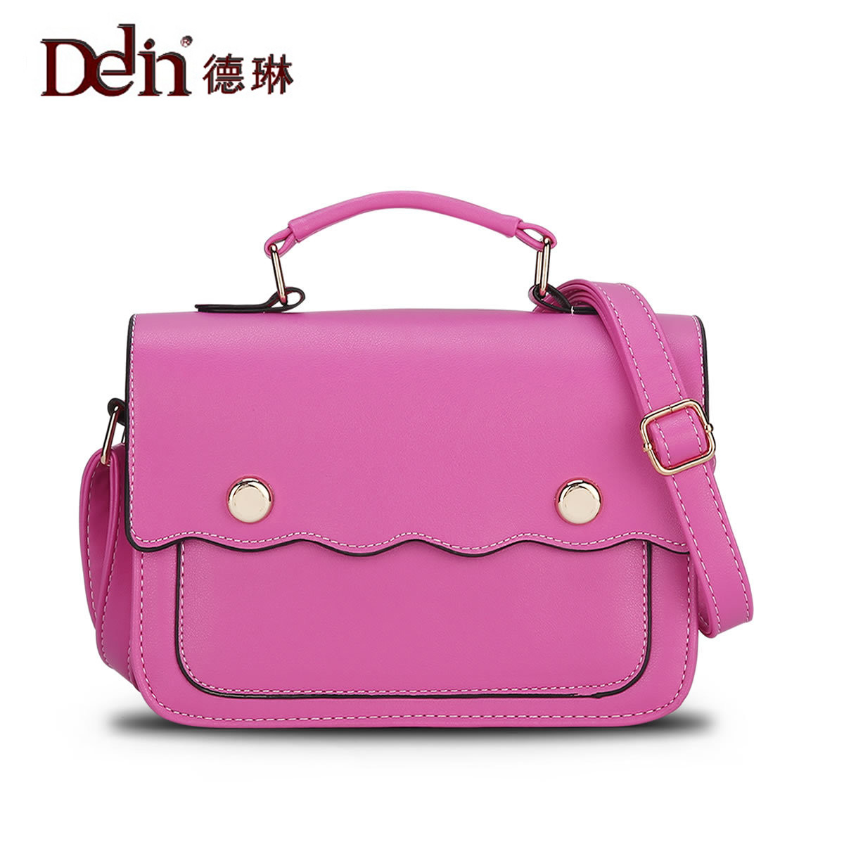 DELIN The new trend of bag manufacturers selling 2017 Korean wave PU Leather Shoulder Messenger Handbag the power of benefits selling