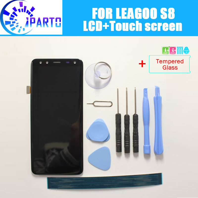LEAGOO S8 LCD Display + Écran Tactile 100% Original Testé LCD Digitizer Verre de Remplacement Du Panneau Pour LEAGOO S8