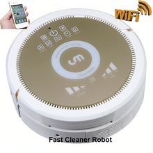 Free Shipping to Russia WiFi enabled Smartphone WIFI APP Wireless Robot Vacuum Cleaner Smartest working with