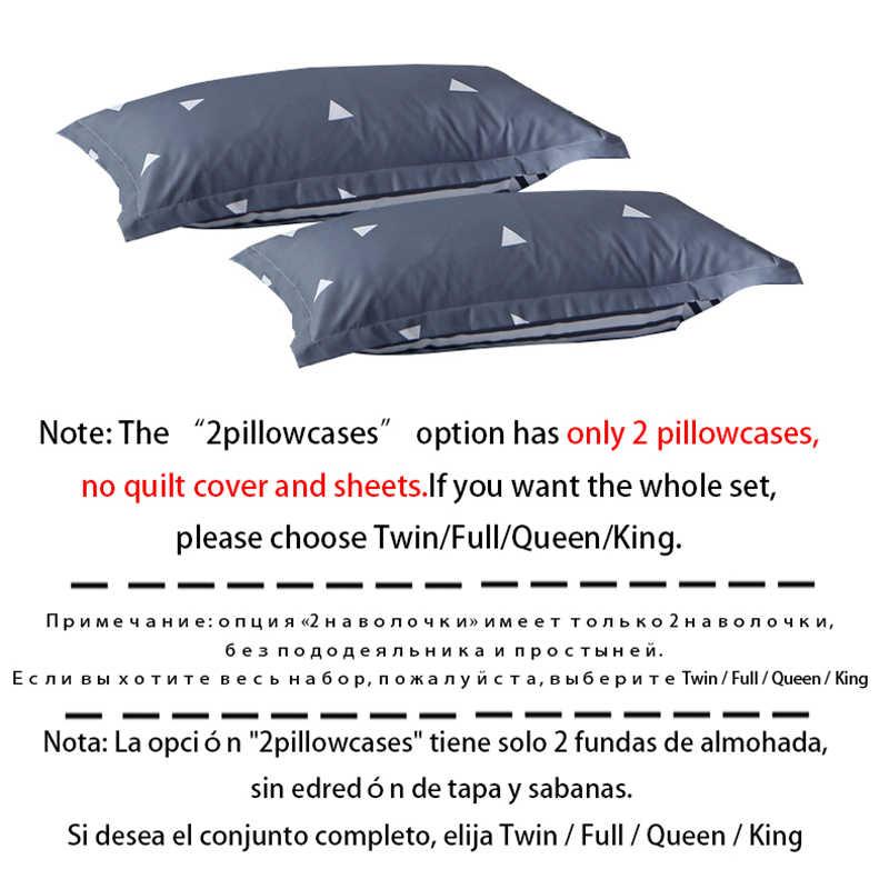 ParkShin ブルー寝具セットユーロ装飾快適パステル下着ベッドリネン大人のためのキングサイズ無地シングル北欧布団カバーセット