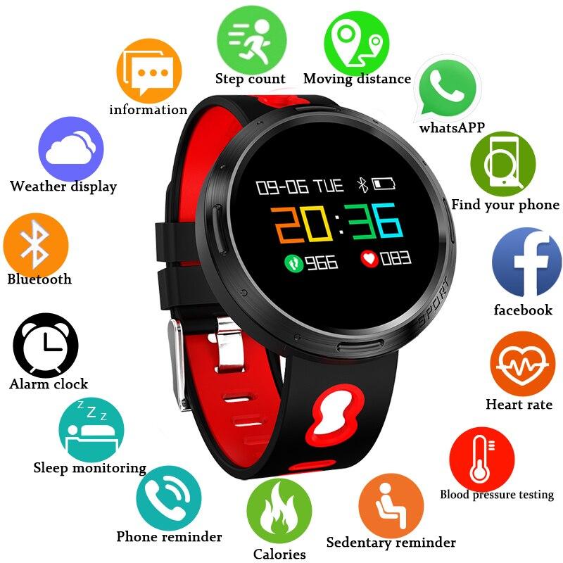 BANGWEI 2018 Hommes Smart Sport Bracelet montre Smart Watch Coeur de La Pression Artérielle Moniteur de Fréquence Couleur Écran Informations Rappeler montre femme