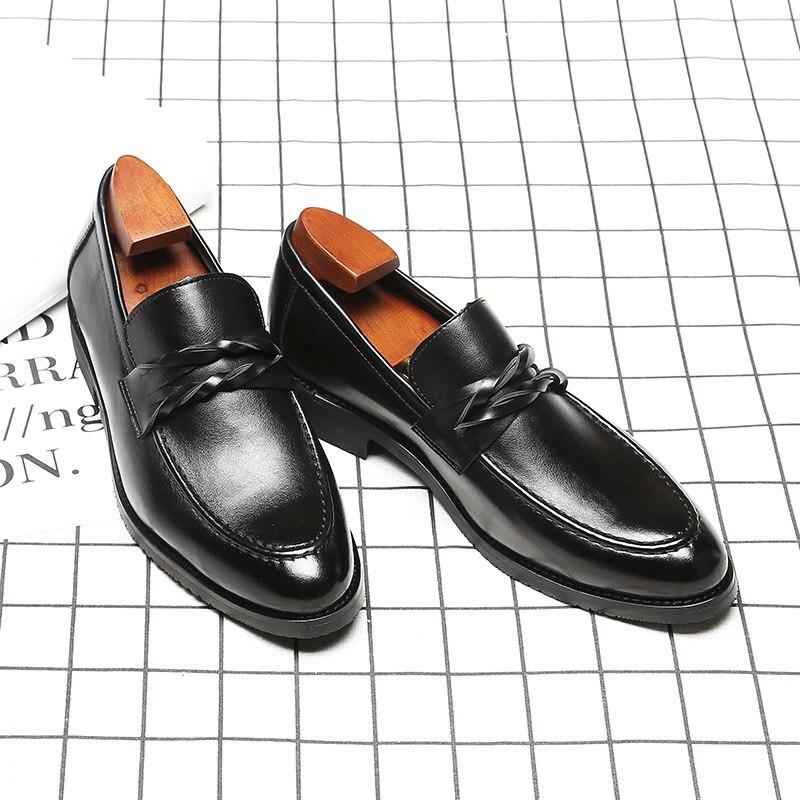 be00b6c55d7 Para De Puntiagudos Negocios Planos Zapatos Mocasines Black Hombre  Conducción Negros Caballero Cuero Informales Fiesta Moda 5PwIfIqW