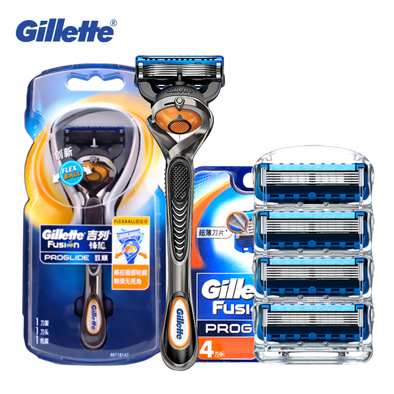 Gillette Fusion Proglide Manual Shaving Razor Blades For Men Safety Beard Razors Shaver Hair Removal Machine 1 Handle 5 Blades gillette shaving razor blades for men 6 count