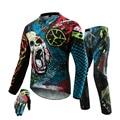 SCOYCO Мотокросс Off-Road MTB DH MX Гонки Джерси + Хип колодки Брюки + Перчатки Мотоцикла Мотоцикла Байк Езда одежда