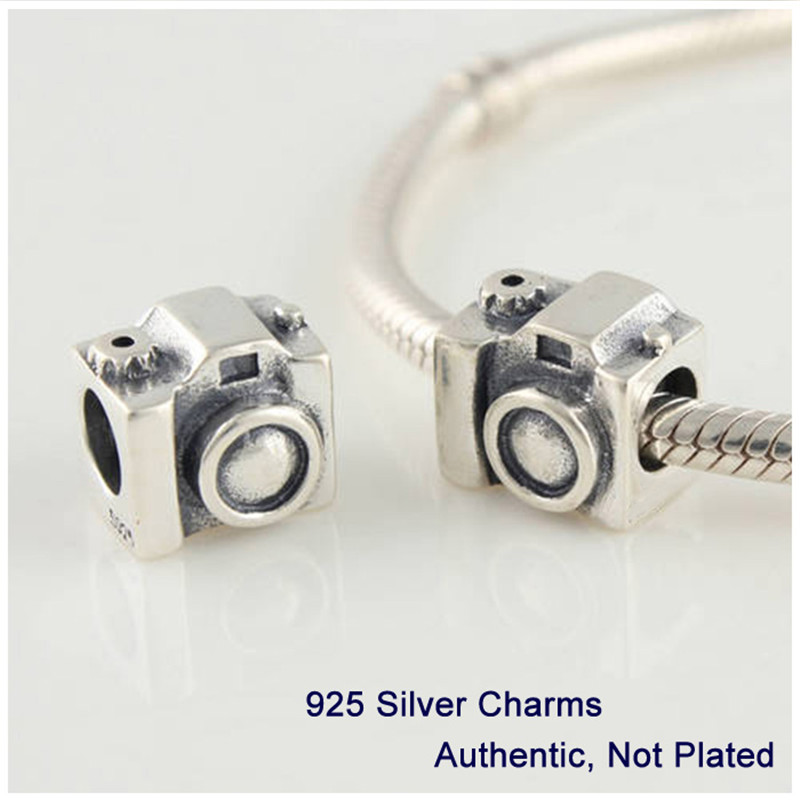 Vintage Camera Beads Authentic 925 Sterling Silver Charm