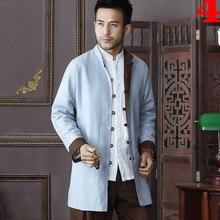 High Quality Chinese Traditional Men's Two-side Cotton Linen Kung Fu Jackets Wu Shu Clothing Coats M L XL XXL 3XL