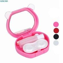 1PC Cute Cartoon Panda Candy Color Contact Lens Storage Box Case Cosmetic Cases Levert Dropship mar2