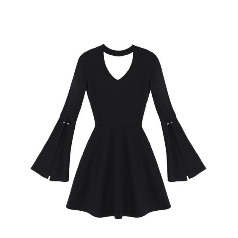 Harajuku Mince Croix Punk Noir Robes Cravate Femmes Ligne Halter Mini Une Sangles Robe Japonais Gothique xwXqgvY0