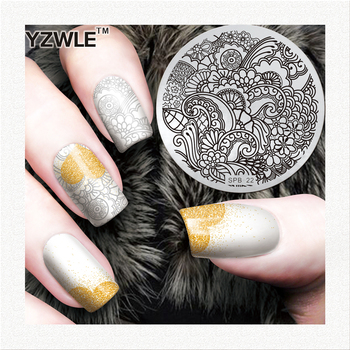 Flower Nail Art Stamping Template Image Plate Nail Stamping Plates Manicure Stencil Set image