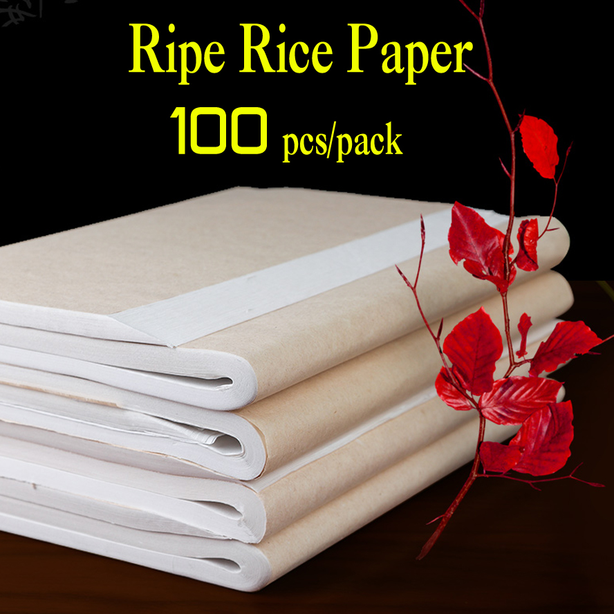 100Pcs/lot Rice Paper Ripe Xuan Paper Calligraphy Painting Creation Chinese Painting Paper Special Small Brush Writing Paper100Pcs/lot Rice Paper Ripe Xuan Paper Calligraphy Painting Creation Chinese Painting Paper Special Small Brush Writing Paper