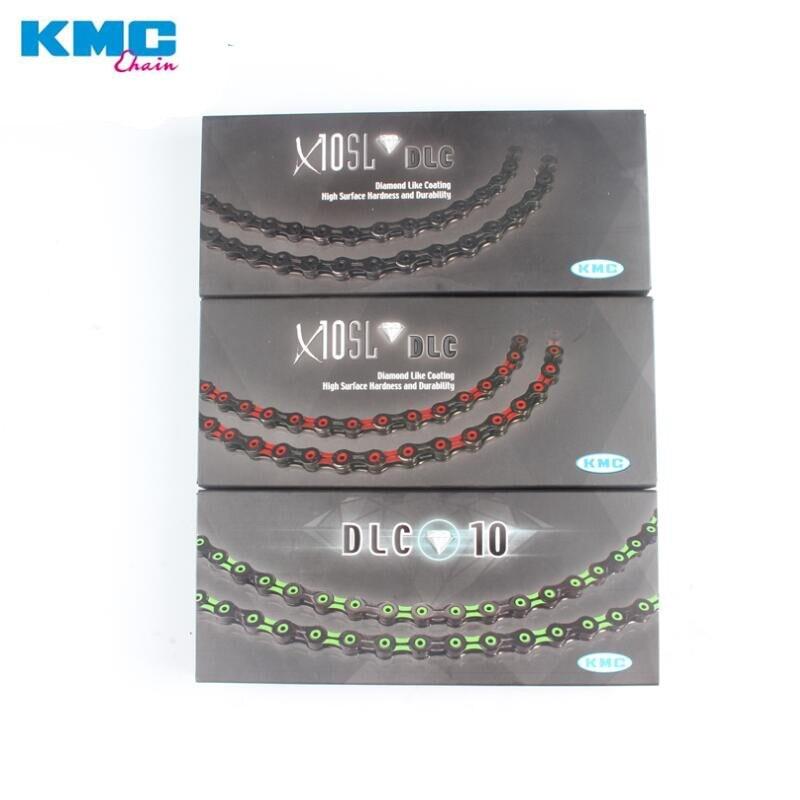 KMC X10SL-DLC diamant comme revêtement 10 vitesses chaîne de vélo X10SL VTT ultra-léger DLC chaîne cyclisme route vélo chaînes X10
