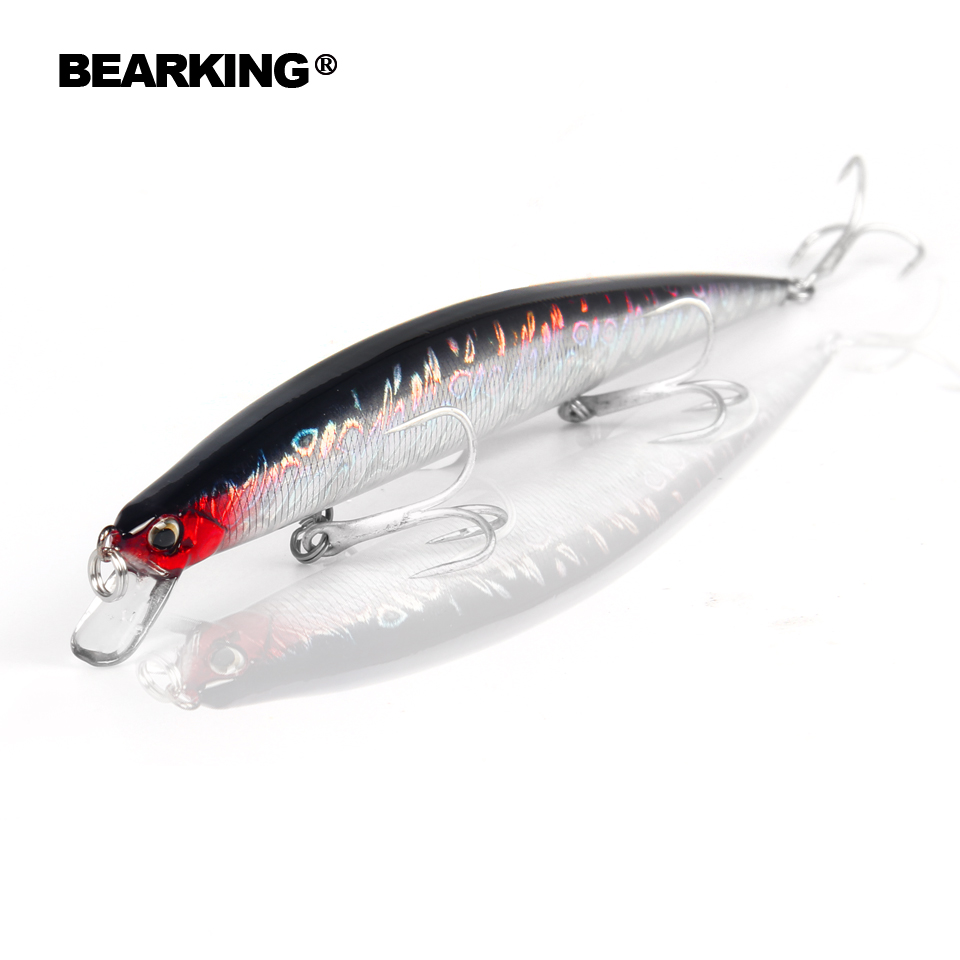 Bearking Brand M57 Hard Fishing Lures Minnow 5Pcs/Lot 20cm 27g quality Baits Deep Diving Wobblers Fishing Tackles lifelike earthworm style fishing baits 5 pcs