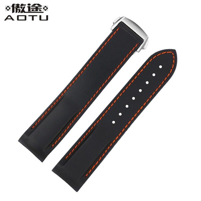 Rubber Watchbands For OMEGA SEAMASTER PO8500 Ladies Watch Straps For Men Watch Band 20MM 22MM Women Clock Belt Bracelet Saat