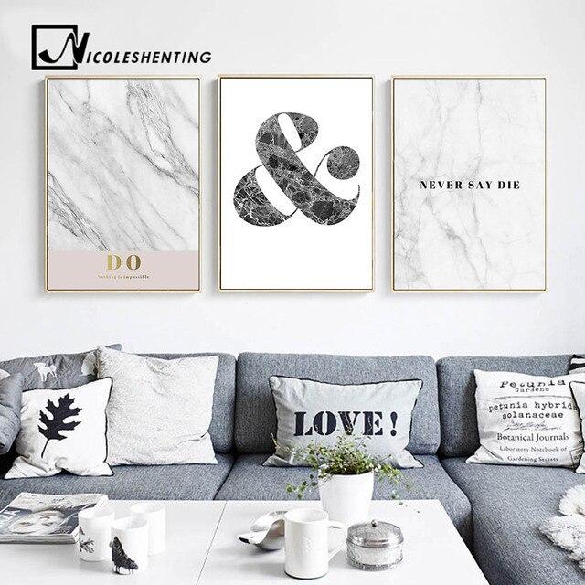 Motievencitaat Muur Canvas Posters en Prints Marmer Abstract ...
