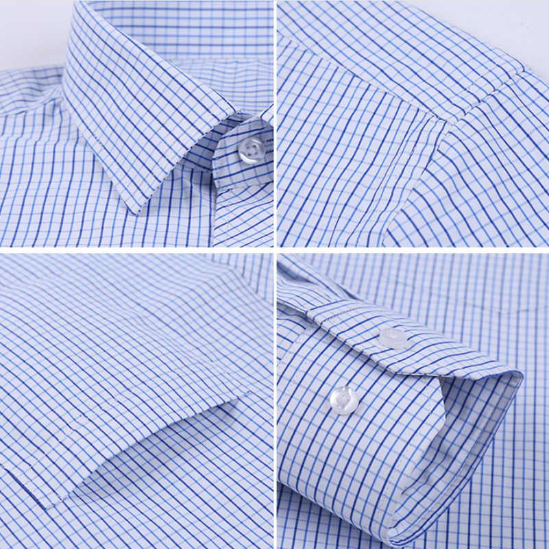 VISADA JAUNA 新四季男性の長袖シャツストライプビジネスカジュアルボトシャツ送料ホットスリム襟シャツ N8988