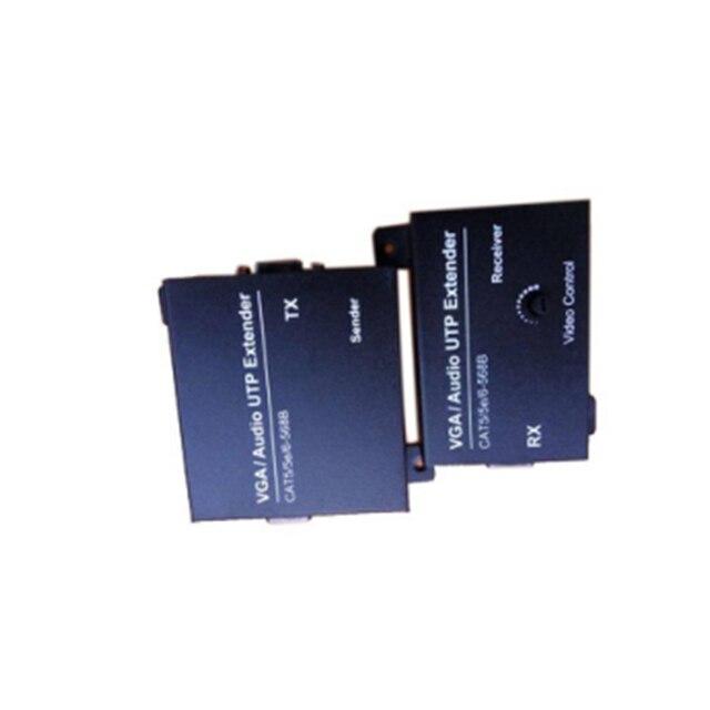 Расширитель VGA UTP 200 м с Cat5e 6 аудио возможностью с входами VGA и аудио сигнала одновременно присваивается к локальному и удаленному
