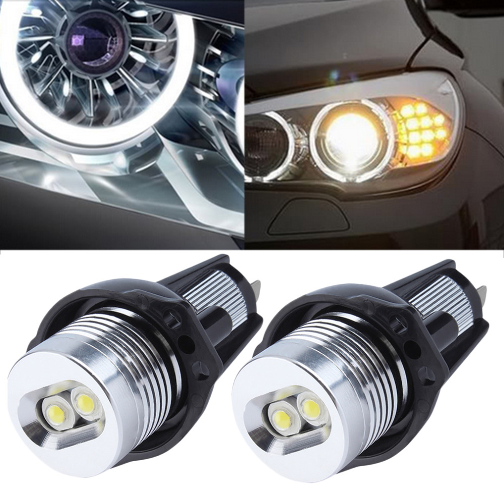 New Xenon White 6000K-6500K LED Angel Eyes Halo Light Bulb No Error For BMW E90 E91 3 Series 325i 328i 325xi 328xi 330i 06-08Hot no bulb out warning message 40w h8 led angel eyes halo ring marker light bulbs xenon white 6k for bmw e60 e90 e92 e70 x5 x6