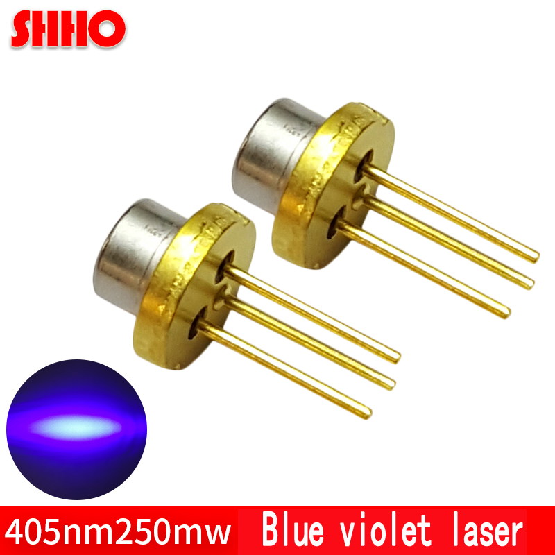 High power laser semiconductor TO3.8/diameter 3.8mm 405nm 250mw blue violet laser diode medical devices accessories laser head
