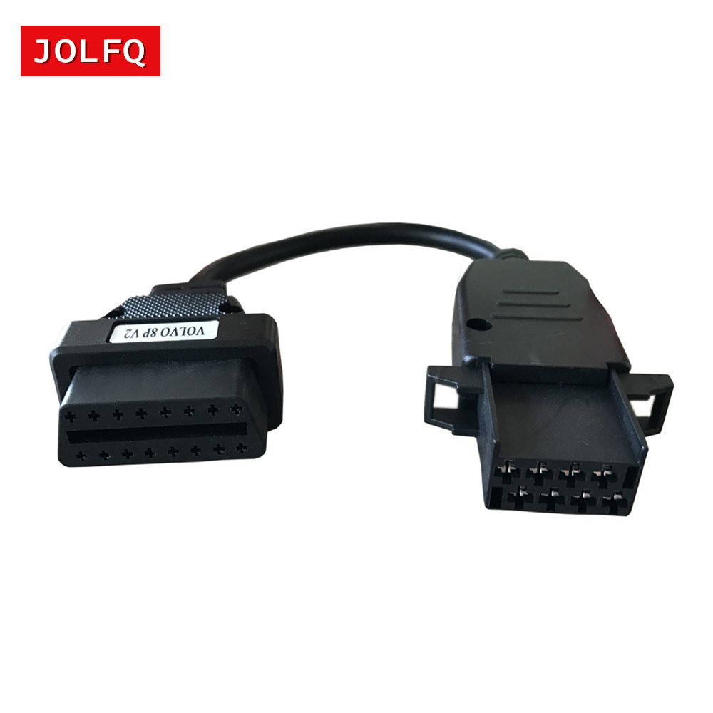Obd2 Connector Location In Volvo Xc90 2002: Truck Cable Extension Connector For Volvo 8Pin To OBD2