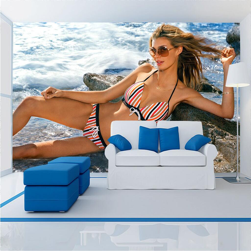 Modern <font><b>3d</b></font> Wallpaper <font><b>Sexy</b></font> Bikini Beauty <font><b>Wall</b></font> <font><b>Papers</b></font> Home Decor <font><b>3d</b></font> for Bedroom TV Background <font><b>3d</b></font> <font><b>Wall</b></font> Mural Wallpaper Restaurant image