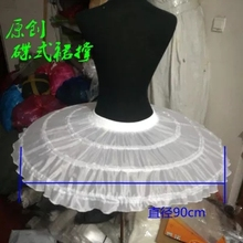 In Stock 3 Hoops Petticoats diameter 90 cm Wedding Accessories cosplay Crinoline Cheap Underskirt For Ball Gown 2018