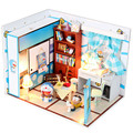DIY Doll House Furniture Miniature Wooden Dollhouse Minitura Toys for Children's Gift,Dreams Tinkerbell Miniature Dolls Houses