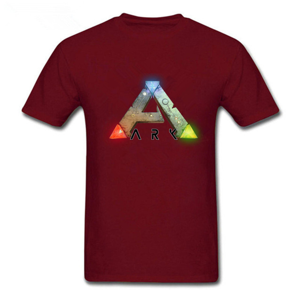 Ano survival evolved The ark survival evolution Pure cotton T shirt Round collar Mens short sleeve T-shirt Video games