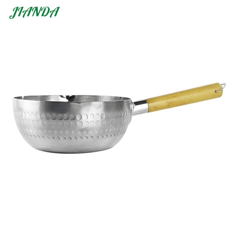 JIANDA Japanese Style Snow Pan Aluminum Cooker Boiled Porridge Kitchen Cookware Cooking Pots Non Stick Frying Noodles Pan 5 Size in Pans from Home Garden