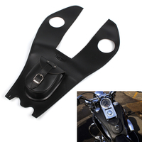 Neverland Black Faux Leather Motorcycle Gas Tank Bag Cover Pad With Pouch Motor Bag For Harley Electra Street Glide D35