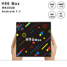 H96 MAX Android TV BOX android 7.1 RK3328 Quad-Core 64bit Cortex-A53 Support 4k Display H.265 WiFi 2.4G/5G BT2.0 set top box