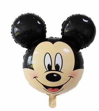 2 PC 110 Cm Giant Mickey Minnie Mouse Foil Balon Merah Kuning Ikatan Simpul Berdiri Anak-anak Pesta Ulang Tahun Globos