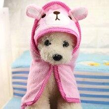 Мультяшное банное полотенце для домашних животных, забавное одеяло для собак, кошек, супервпитывающий банный халат для щенков, Йоркцев, костюм, одежда для чихуахуа, код P250