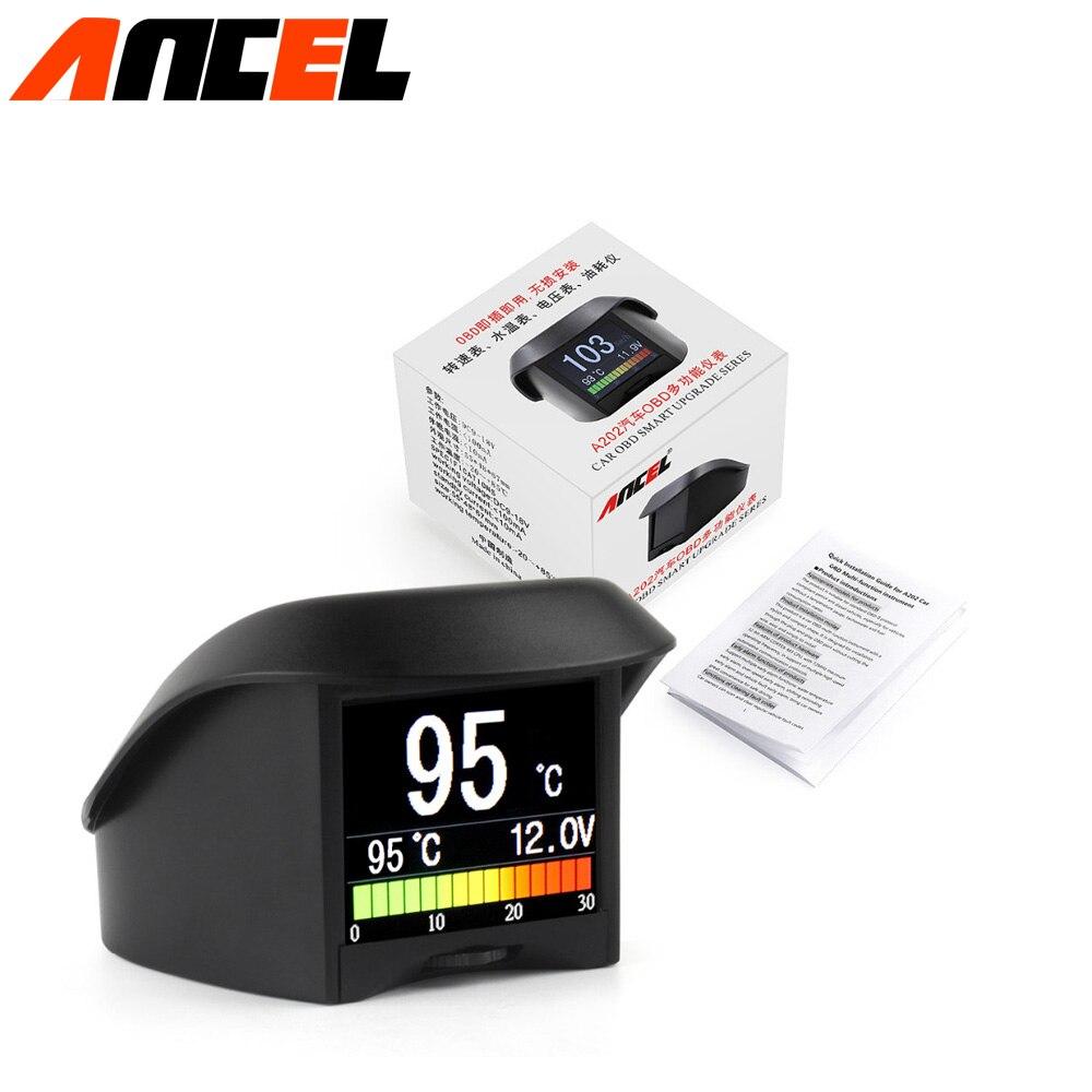 Prix pour Scan obd2 scanner automotivo température de L'eau jauge numérique tension compteur tachymètre compteur de vitesse ordinateur d'affichage affichage PNP