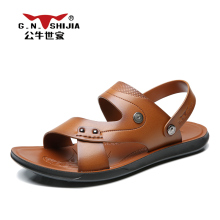 G.N. SHI JIA 2017 Cool Summer Light Men's Sandals Good Quality Microfiber Rubber Sole Leisure Simple Design Male Slides 888400