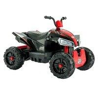 Uenjoy ATV для детей 4 Wheeler Quad 12 В батарея питания Электрическая поездка на автомобиль с колесами подвеска, 2 скорости светодиодный светодиодные ф