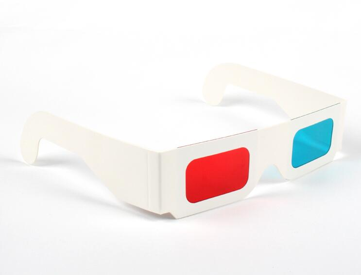 1000PCS Newest Paper Frame 3D Glasses Red Blue Cyan Colors DHL Free Shipping