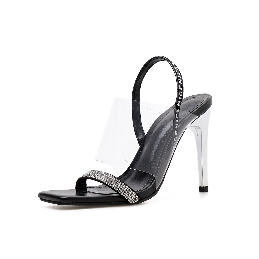 sexy see-through high heels summer womens shoes sandals women transparent block