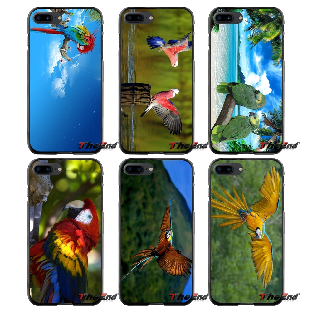 Accessories Phone Shell Covers For Apple iPhone 4 4S 5 5S 5C SE 6 6S 7 8 Plus X iPod Touch 4 5 6 Parrot birds