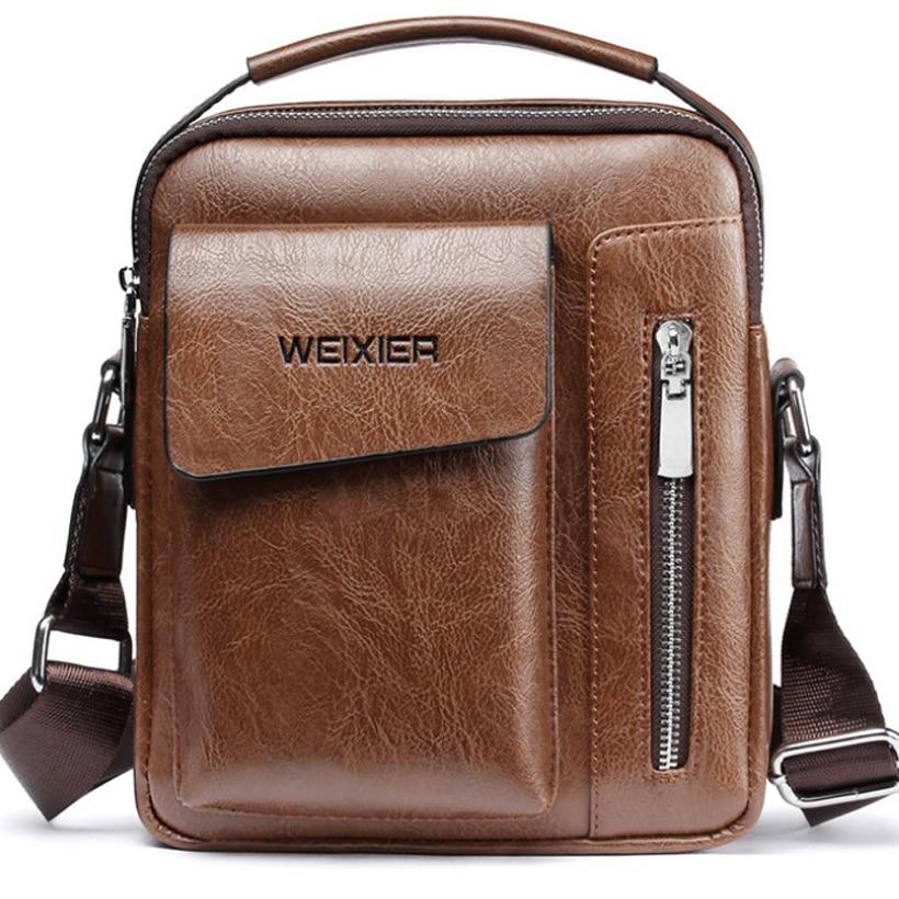 Handbag Man Messenger Bag 2 Set Men Pu Leather Shoulder Bags Business Crossbody Casual Bag Famous Brand Small Black Briefcase