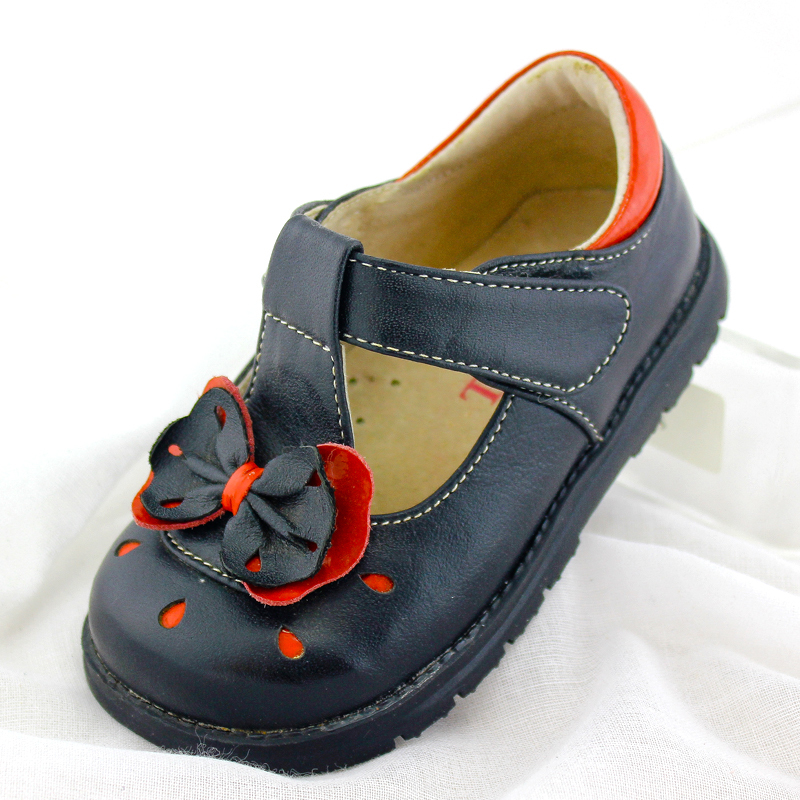 ФОТО TipsieToes Brand High Quality Genuine Leather Floral Bow-knot Kids Sneakers Shoes  Fashion Children Shoes Girls A65011