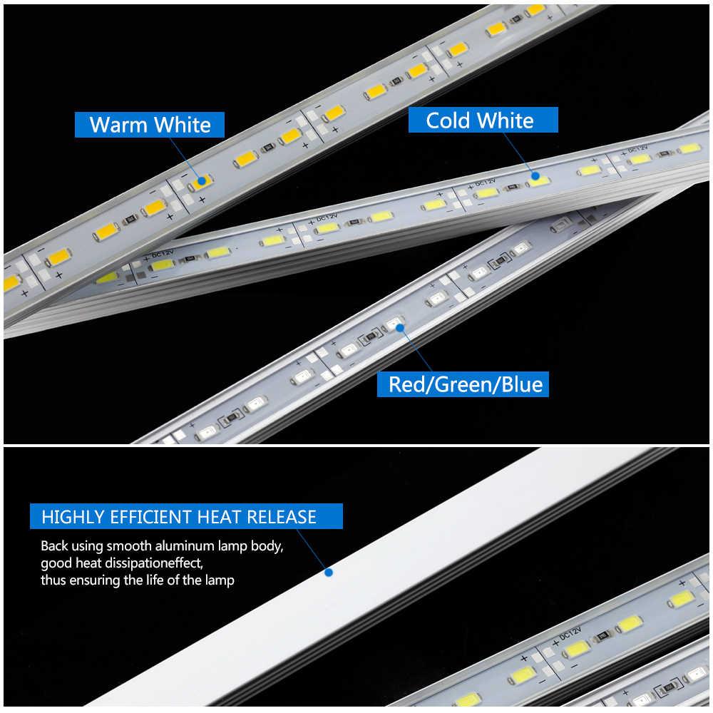 Светодиодный свет бар DC 12 V 50 см Яркость 5630 Жесткая Светодиодные ленты IP68 Водонепроницаемый открытый светодиодный трубки 5 шт./лот