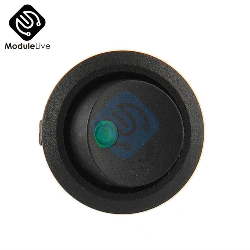 12 В постоянного тока Светодиодный точечный светильник, автомобильный переключатель, автоматический, лодочный, Круглый, Кулисный, 3Pin, вкл/выкл, переключатель SPST, 4 цвета, синий, желтый, красный, зеленый, 3P
