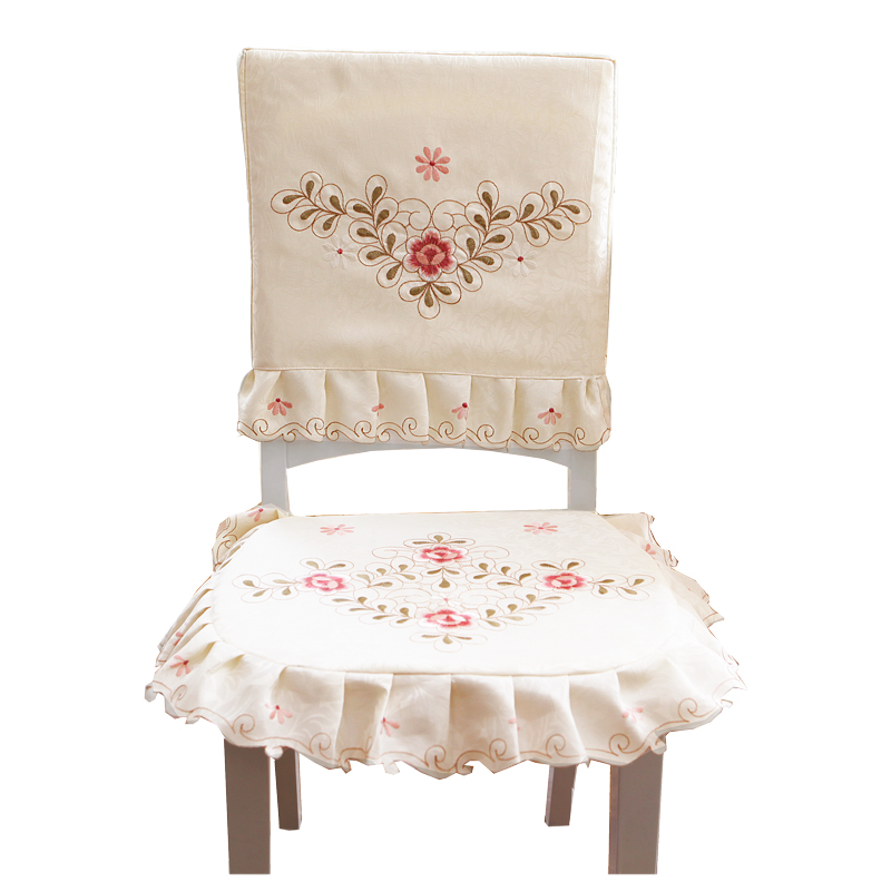 Embroidered chair cushion for dining chair cushion of garden cloth art dining room cushion of European seat cushion can be taken in Cushion Cover from Home Garden