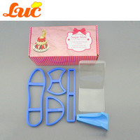 LUC Quality Products Large Size 4 Pcs Ultimate Sugar Shoe Kit Fondant High Heel Shoe Cutter
