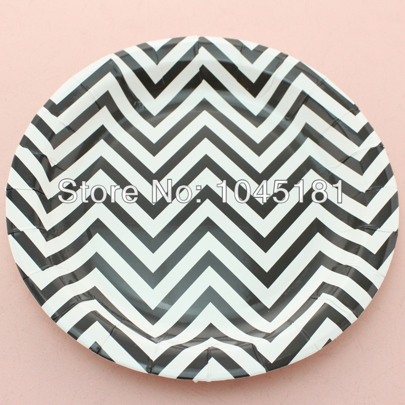 Black Chevron Paper Cups Paper bags Paper Straws Party Supplies Square and Round Paper Plates Wooden Forks Spoons Knives-in Event \u0026 Party from Home \u0026 Garden ... & Black Chevron Paper Cups Paper bags Paper Straws Party Supplies ...