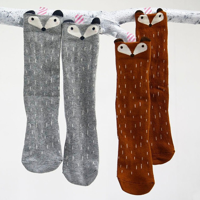 Cute Long Animal Printed Cotton Socks